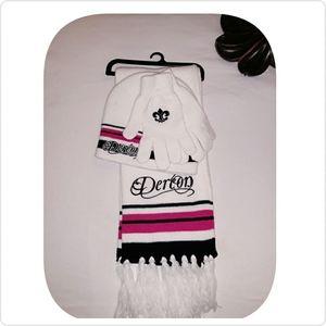 Beyonce Derion Hat glove scarf set